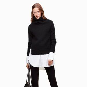 Babaton Mika Cashmere Wool Turtleneck Sweater